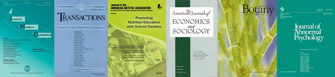 Covers of Scholarly Journals